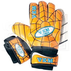 GK338 VKM Goalkeeper Gloves German Latex With Spider Web Design Gold/Black/White