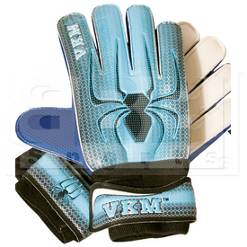GK1810 VKM Soccer Goalkeeper Gloves Spider Design Columbia/Black/White