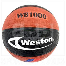 "WB1000-BLK-BRN Weston Basketball Ball Black/Brown 29.5"""