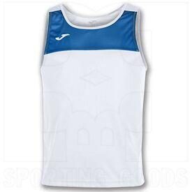 101033.207 Joma Camiseta sin Mangas Race Blanca / Royal