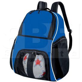 327850.526 High Five Backpack for Basketball/Bowling/Soccer/Volleyball Royal/Black/White