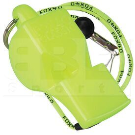 9903-1308 Fox 40 Classic Official Whistle With Breakaway Lanyard Neon Yellow