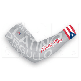AS1532LG Dux Sports Latino Puerto Rico Flag Compression Arm Sleeve Grey