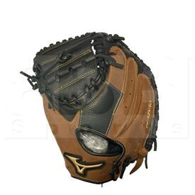 "312634.F980.22.3300 Mizuno Samurai Youth Baseball Catcher's Mitt 33"" Black-Brown LHT"
