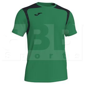 101264.451 Joma Championship V Short Sleeve Shirt Green/Black