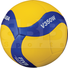 V350W Mikasa V350W Volleyball 18 Panel Design Ball w/ Soft Stitched Cover Size 5