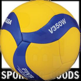 V350W Mikasa Bola de Diseño de Panel de Voleibol 18 V350W con Cubierta Cosida Suave Tamaño 5