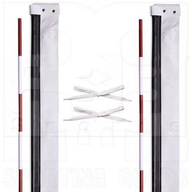 Champion Sports Volleyball Antenna w/ Visible Red Striped Fiberglass Pole Set