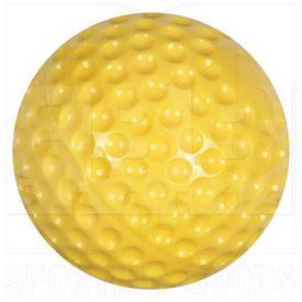"""CBB57 Champro Pitching Machine Balls Soft Dimpled Baseball 9"""" Yellow Dozen"""