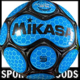 SAR3-RO Mikasa Bola de Soccer Aura en Cuero Talla 3 Royal/Negra