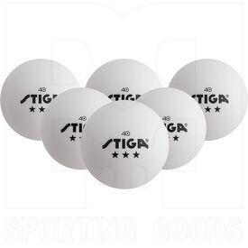 T1432 Stiga Bolas de Tenis de Mesa de 3 Estrellas Blancas
