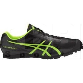 G404Y-9007-7 Asics Hyper LD 5 Track and Field Shoes Black/Safe Yellow