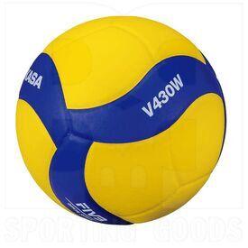 V430W Mikasa Bola de Voleibol V430W Tamaño 4 Amarillo/Azul