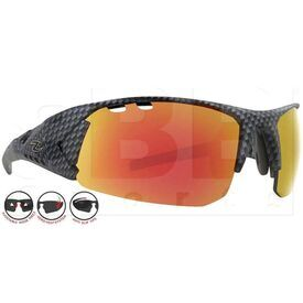 ZZ-EY-UV-SPRINT-CAR-RD Zol Sprinter UV Protection Sunglasses Carbon w/ Red Lens