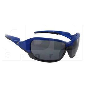 ZZ-EY-UV-ZPE-BL-SMK Zol Zpeedy Aerodynamic Polarized Sunglasses Blue w/ Black Lens