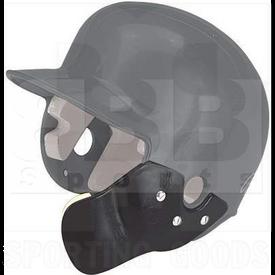 Markwort Batting Helmet C-Flap Facial Protection Jaw Guard for Right Hand Batter Black