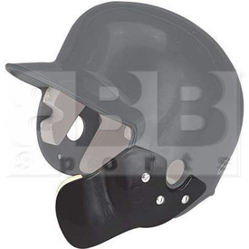 CFLAP-BKRH Markwort Batting Helmet C-Flap Facial Protection Jaw Guard for Right Hand Batter Black