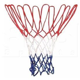 NG04C Champion Sports 4 mm Basketball Net Red/White/Blue