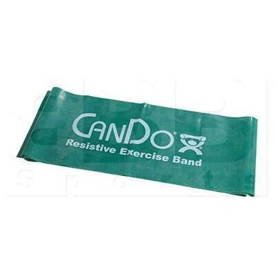 "105243 CanDo Low Powder Resistive Exercise Band Green Medium 48"""