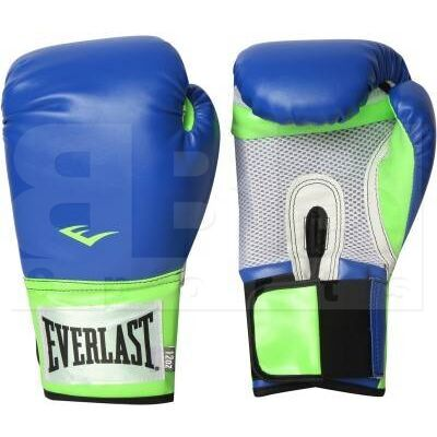 1200017 Everlast Pro Style Training Boxing Gloves Blue/Green 12oz