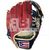 """ST1122-FPRNS Tamanaco ST-Series Puerto Rico Edition Natural Leather Infield Glove 11.25"""" Navy/Scarlet RHT"""