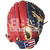 "ST1200-FPRNS Tamanaco ST-Series Puerto Rico Edition Natural Leather Infield/Pitcher Glove 12"" Navy/Scarlet RHT"