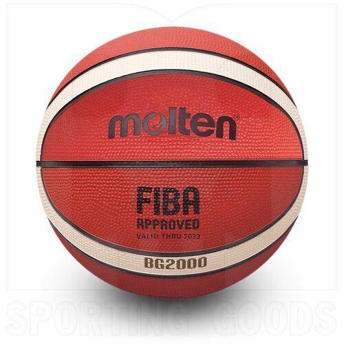 G20-7 Molten Bola de Baloncesto BG2000 de Goma para Interiores/Exteriores Aprobado por FIBA Tamaño 7