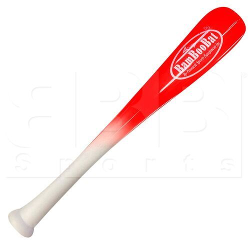 "HWBR18T BamBooBat One Hand Training Bat Baseball or Softball Red/White 18""/18oz"