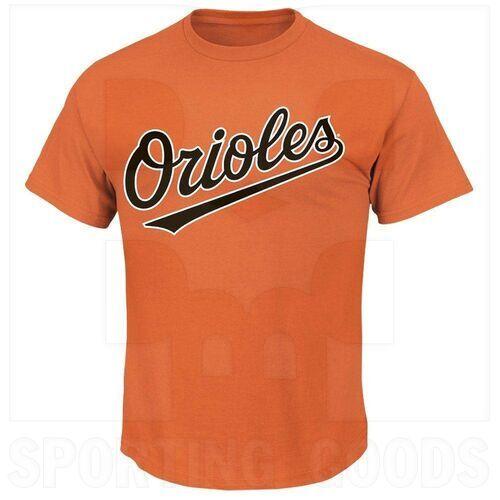 1922-BAO-DO-M Majestic Camiseta para Adulto MLB Crewneck Baltimore Orioles Naranja Medium