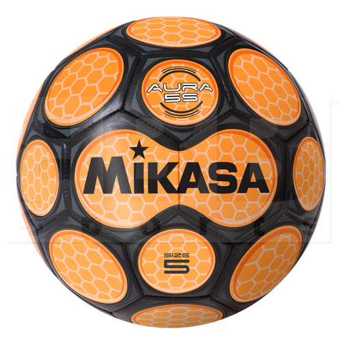 SAR4-OR Mikasa Leather Soccer Ball Size 4 Orange
