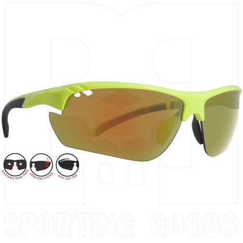 ZZ-EY-UV-STREAM-GR-RD Zol Gafas de Sol Stream Verde Neón con Lente Rojo