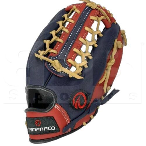"ST1302-NSC Tamanaco ST-Series Natural Leather Outfield Glove 13"" Navy/Scarlet/Cream RHT"