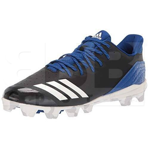 CG5260-10 Adidas  Icon Bounce Baseball Cleats Black w/ Blue