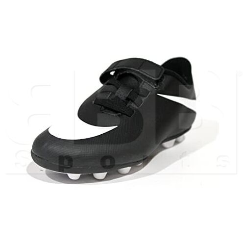 749905-011 Nike Bravata Kids Soccer Cleat Black w/ White
