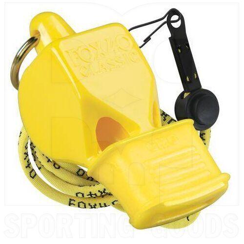 9603-0208 Fox 40 CMG Silbato Clásico con Cordón Amarillo