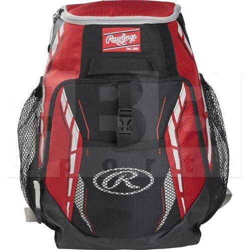 R400-SC Rawlings Youth Player Backpack Baseball Team Scarlet