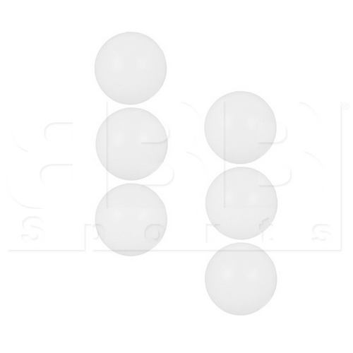 TB1037-6PCS VKM Three Star White Ping Pong Table Tennis Balls - Pack of 6pcs