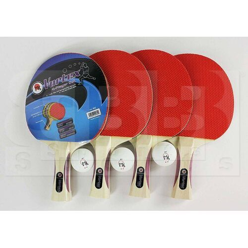 402 MK Vortex Table Tennis 4-Player Racket Set