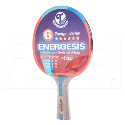 T-92612-4374 Tamanaco Professional Energesis 6 Star Plus Ping Pong Table Tennis Racket