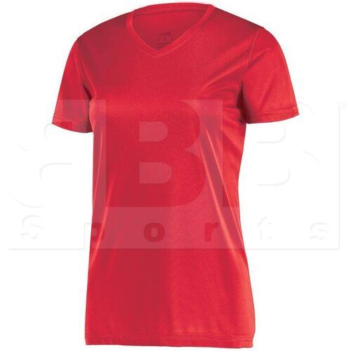 1790.040.L Augusta Ladies Wicking Microfiber T-Shirt w/ V-Neck Scarlet