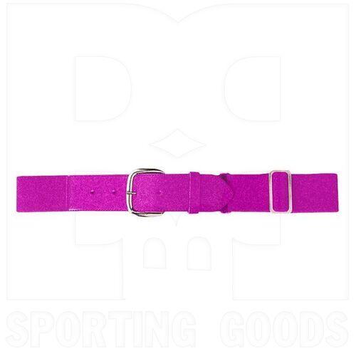 6001.809 Augusta Adult Elastic Baseball Belt w/ Vinyl Tabs & Slider Power Pink