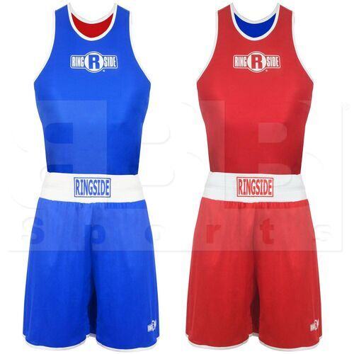 EOFITR-YL Ringside Boxing Suit Set Reversible Competition Red/Blue