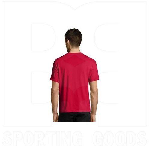 5170RDS Hanes Camisa de Algodón de Manga Corta con Cuello Redondo Roja