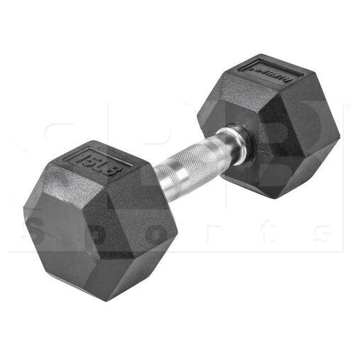 LLHRD15 Lifeline Hex Rubber Dumbbells 15LBS (Single)