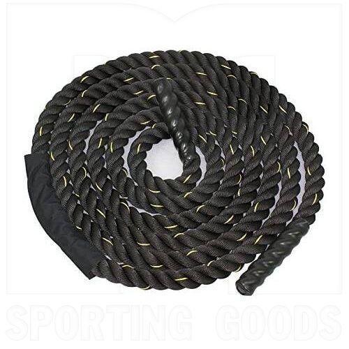 """SC82343380MM Tamanaco 1.5/2"""" Width 30ft Length Fitness Battle Rope for Strength Power Black"""