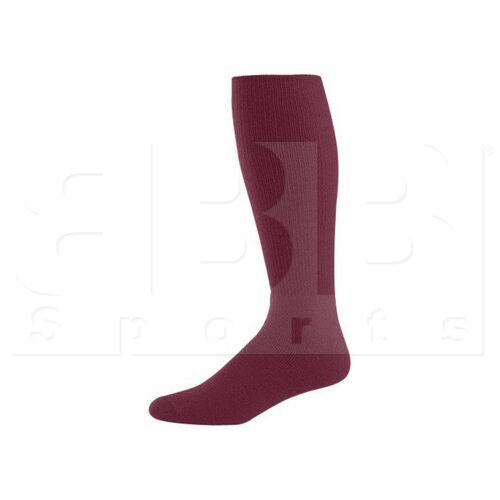 328030.745.L High Five Athletic Knee-Length Socks Pair Maroon