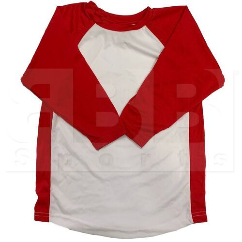 BS29-SC-YL Champro Youth 3/4 Sleeve Shirt Red/White