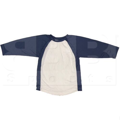BS29-NV-YL Champro Youth 3/4 Sleeve Shirt Navy/White
