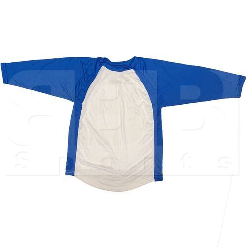 BS29-RO-YL Champro Youth 3/4 Sleeve Shirt Royal/White