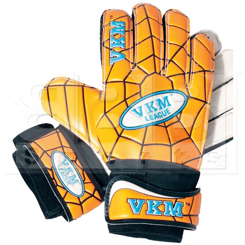 GK33 VKM Goalkeeper Gloves German Latex With Spider Web Design Gold/Black/White